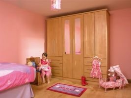 Girls Quality Bedroom Furniture -  made to last and at an affordable price.  The birch shaker style doors are a great idea , practical  and timeless so never dates. See photo of matching dressing table, mirror and headboard!