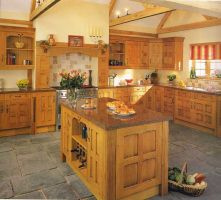 Traditional country farmhouse kitchen that will never date and where the quality speaks for itself, Hand waxed, character oak with softened edges & corners - a design from a bygone age. Call in to our showroom to  see the display!