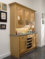 This in-frame, custom made, free-standing, dresser is an exciting modern interpretation of a traditional design.